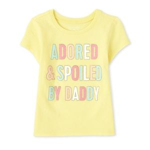 NWT Children's Place Yellow Graphics Top 18-24mo